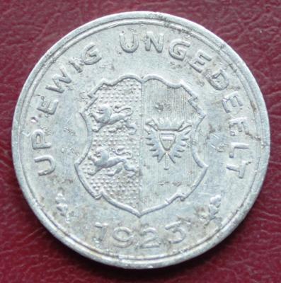 Нотгельд  Шлезвиг-Гольштейн 5 марок 1923 340р 1.JPG